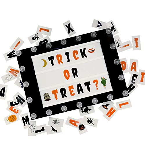Brooklyn Lighting Company Light Box Letters, Lightbox Letters and Symbols, Lightbox Letters, 100 Halloween Letter Tiles for Cinema Light Box, Light Box with Letters, 2.5