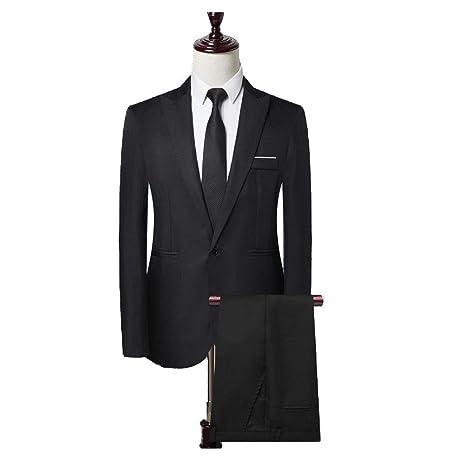 Blesky Mens One-Button Solid Modern-Fit Blazer Suit Jacket