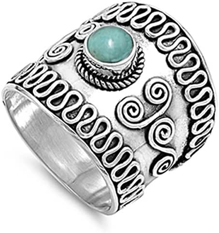 SELECT YOUR COLOR Sterling Silver Stunning Women's Bali Ring