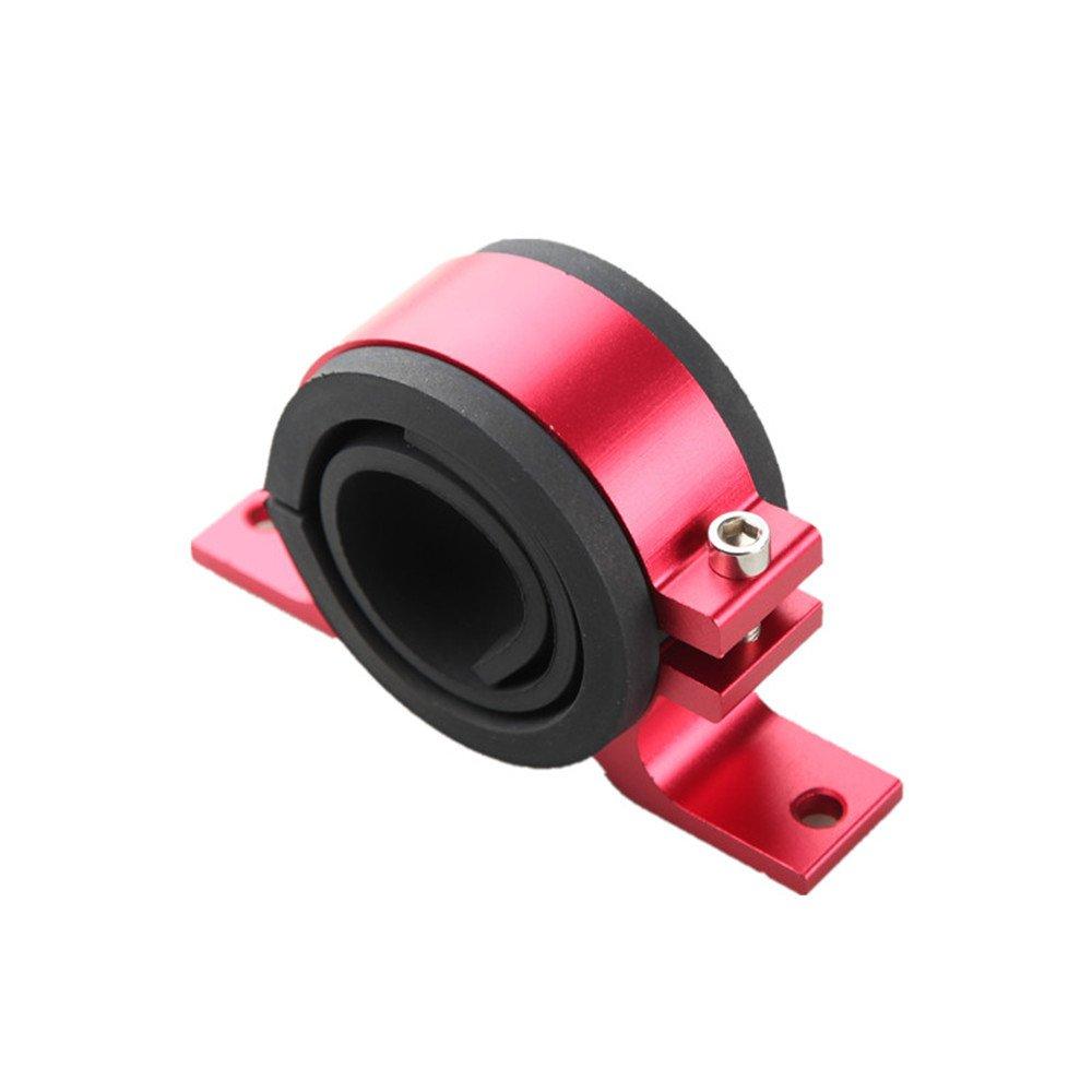 52mm Fuel Pump Bracket Anodised Single Billet Filter Clamp Cradle Black