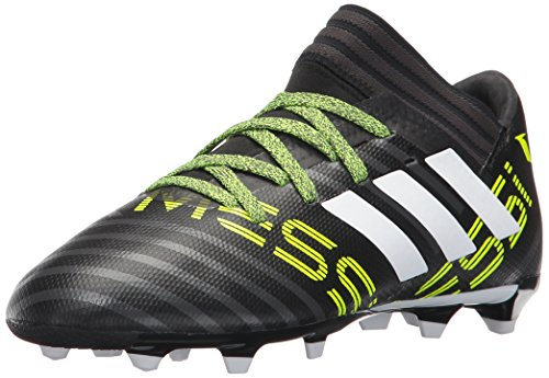 Soccer Kids Boots (adidas Kids' Nemeziz Messi 17.3 FG J Soccer-Shoes, Black/White/Solar Yellow, 2.5 Big Kid)