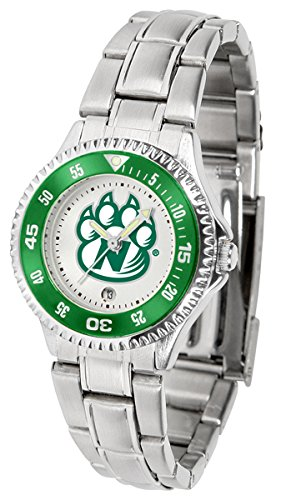 SunTime Northwest Missouri State Bearcats Competitor Ladies Watch with Steel Band