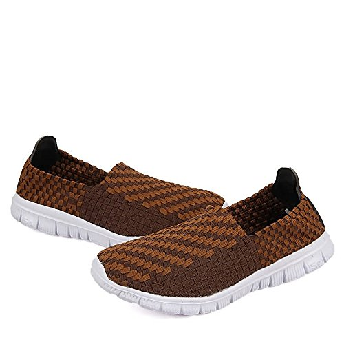 Pattern da Cricket Slip da On Uomo Leisure Fashion Coffee e Vamp Scarpe Sneaker Donna Splice Grid per Scarpe Ginnastica HSwT0Tqa