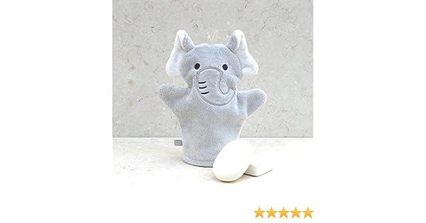 Baño elefante algodón Manopla de baño, diseño de conejos: Amazon ...