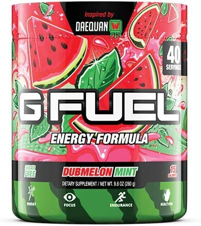 G Fuel Dubmelon Mint 40 Servings Elite Energy and Endurance Formula 9.8 oz.