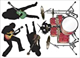 Easy Stick 4 Piece Rockin Band - Vinyl Wall Art Decal