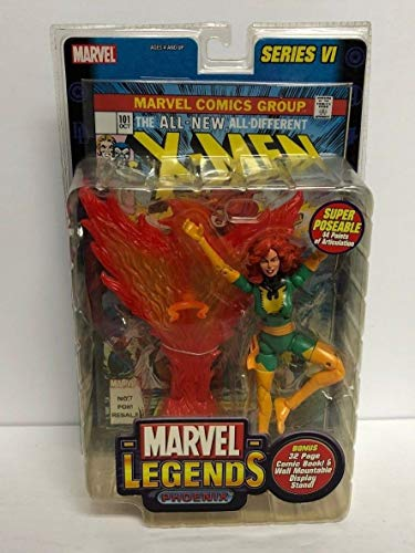 Phoenix MARVEL LEGENDS 2004 action figure series VI with comic book from Legends