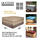 ULTCOVER Waterproof 600D Polyester Square Hot Tub