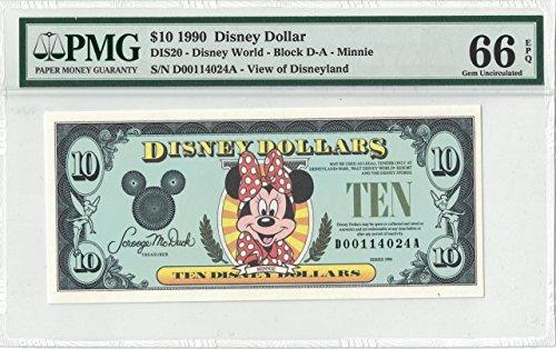 Disney Dollar 1990 D Minnie $10 D00114024A PMG 66 EPQ Gem Unc ()