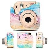 CAIUL Compatible Fujifilm Instax Mini 9 Film Camera Bundle with Case, Album, Filters & Other Accessories for Fujifilm Instax Mini 9 8 8+ (Rainbow Mist, 7 Items)
