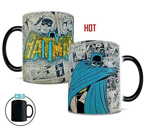 Morphing Mugs DC Comics Originals (Batman Retro Logo) Heat Reveal Ceramic Coffee Mug - 11 Ounces