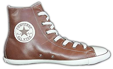 CONVERSE All Star Hi Chucks 505616 Leder braun:42, 42: Amazon.de ...