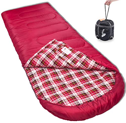 Reisen 0 Degree Lightweight Sleeping Bag Flannel, Cold Weather Sleeping Bags for Adults/Youth,Camping/Backpacking/Hiking -0°C …