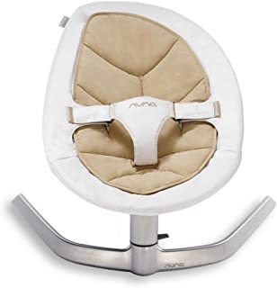 Nuna Leaf Baby Rocker – Bisque. Suitable from Birth until 60kg. Unassisted Motion Lasts for Over Two Minutes