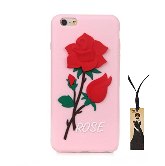 iphone 6s case red rose