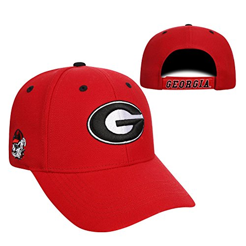 Georgia Bulldogs Official NCAA Adjustable Triple Threat Hat Cap by Top of the World - Athens Clothing Ga Mens