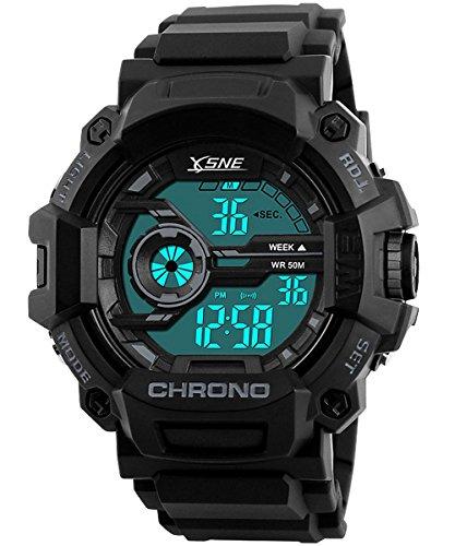 Digital Sports Watch Electronic Waterproof LED Military Light Black Teenager Boy's watch