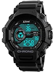 Boys Watch Digital Sports Waterproof Military Back Light Gift for Teenager Ages 12-20 Black
