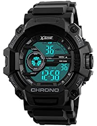 Digital Sports Watch Electronic Waterproof LED Military...