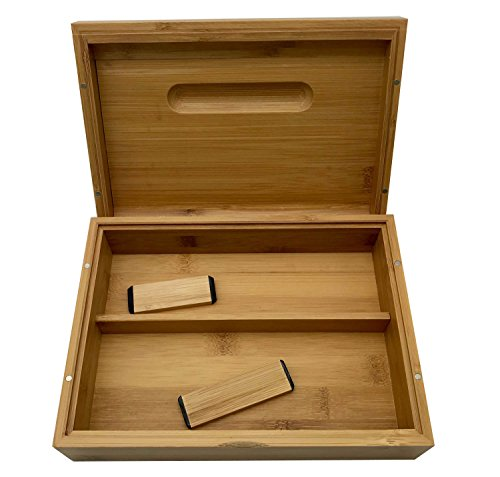 SYOXAFE Bamboo Rolling Tray Kit with 8-in-1 includes Herb Grinder Pocket Scale Cigarette Roller by SYOXAFE (Image #4)