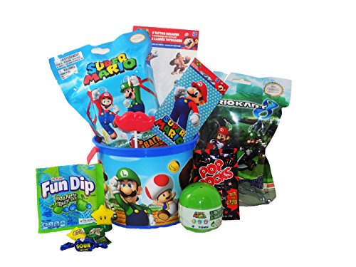 Mario Video Gamer Themed Candy Toy Gift Basket