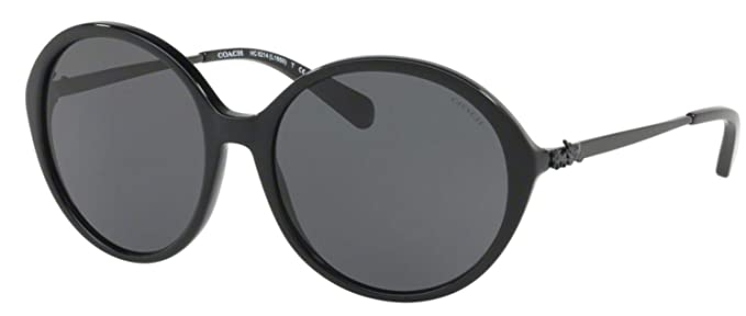 f0cf15781c50 Coach Womens Sunglasses Black Grey Acetate - Non-Polarized - 56mm