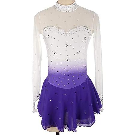 AUED Vestido de Patinaje artístico para niñas Adultas Falda de ...