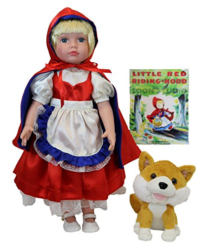 Dazzleworks Little Red Riding Hood Deluxe Once Upon A Time Storybook Doll Set