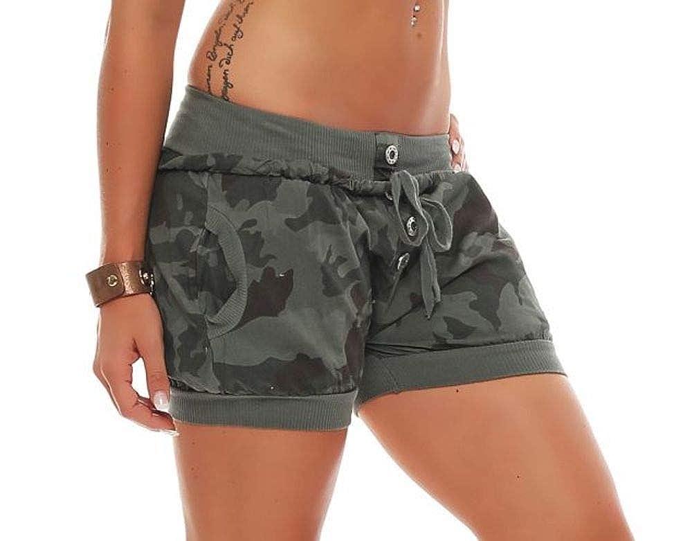 Malito Hotpant Design Camouflage Pantalon /ét/é 8970 Femme