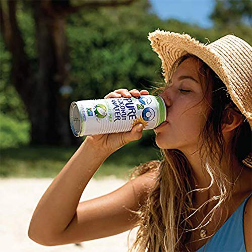 C2O Pure Coconut Water with Pulp | Plant Based | Non-GMO | No Added Sugar | Essential Electrolytes | 17.5 FL OZ (Pack of 12) 4