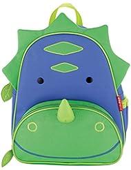 Skip Hop Zoo Toddler Kids Insulated Backpack Dakota Dinosaur Boy, 12-inches, Green