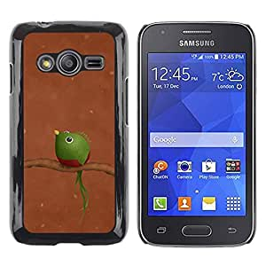 iKiki Tech / Estuche rígido - Branch Brown Green Funny Art - Samsung Galaxy Ace 4 G313 SM-G313F