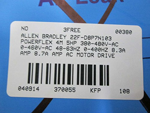 NEW ALLEN BRADLEY 22F-D8P7N103 POWERFLEX 4M 5HP 0-400HZ 0-460V DRIVE