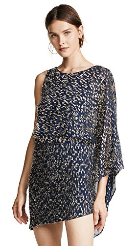 HANEY Women's Lucia Dress, Marine/Gold, 8