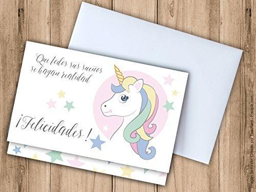 Tarjeta sobre para regalar dinero, Unicornio. Tarjeta de ...