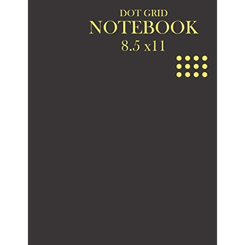 Smart Plain Design Lined Notebook 8x10 Large Journal Notebook Black with Date and Numbered Pages