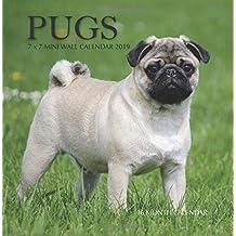 Pugs 7 x 7 Mini Wall Calendar 2019: 16 Month Calendar
