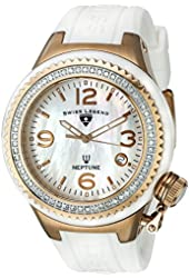 Swiss Legend Women's 11844D-WWRA Neptune White Mother-Of-Pearl Dial Diamond Accented Watch