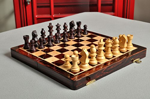 FOLDING WOODEN MAGNETIC Travel Chess Set - 10'' by The House of Staunton by The House of Staunton