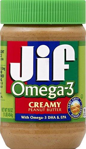 Jif Omega-3 Creamy Peanut Butter, 16 Ounce