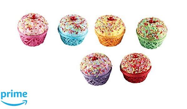 DISOK Lote de 24 Cajitas Cajas en Forma de Pastel Cupcake - Cajitas para Detalles de Bodas, Recuerdos y Regalos: Amazon.es: Hogar