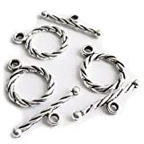 Heather's Basic Finding Zinc Alloy(Tibetan silver) Clasp Toggle Jewelry findings
