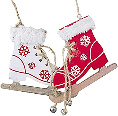 Patins A Glace Decorative Pendant Pour Decoration De Noel