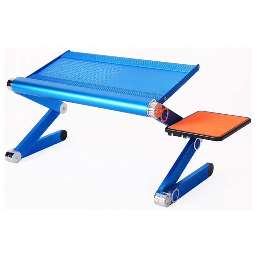 HATHOR-23 ラップトップリフトスタンド - 調節可能な折りたたみ式ポータブル、MacBook用トレイデスクの朝食用ベッドトレイ(ブルー)   B07QSPQ7GH