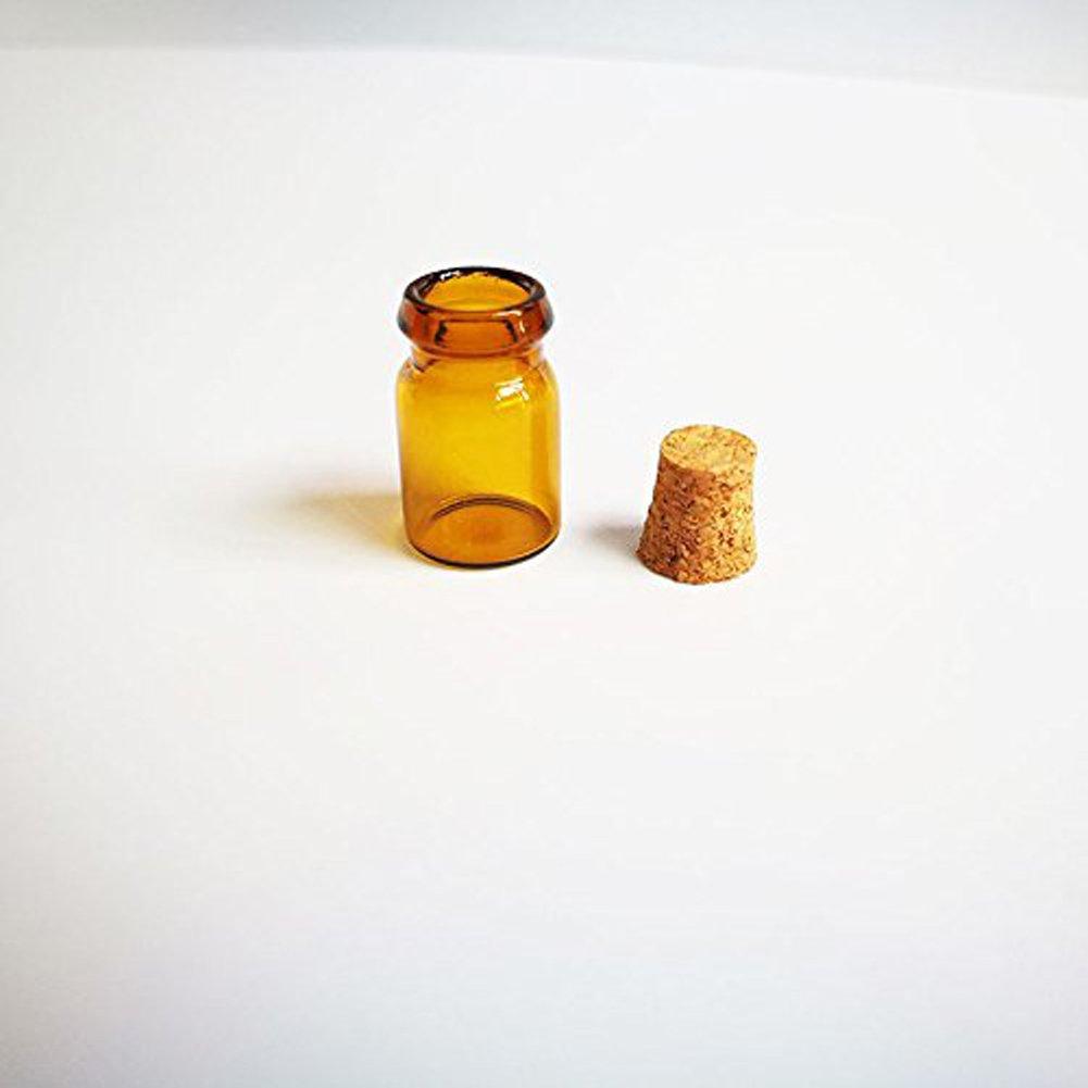 5b2da8a6fa72 Amazon.com: ASTRQLE 12PCS 0.5ml Mini Amber Glass Emrty Essential Oil ...