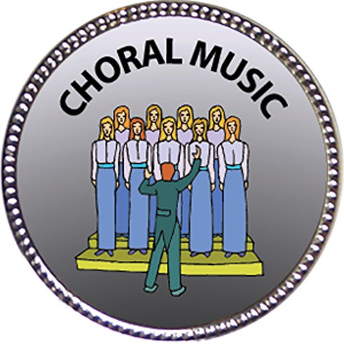 Keepsake Awards Choral Music Award, 1 inch Dia Silver Pin Music Arts -