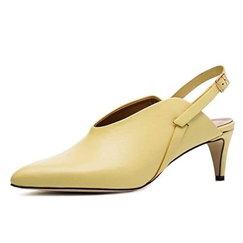 8561abc2a7b YDN Women Pointed Toe Kitten Low Heel Sandals Slingback Mules Slip ...