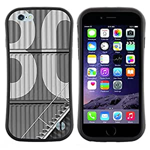 Pulsar iFace Series Tpu silicona Carcasa Funda Case para Apple iPhone 6+ Plus / 6S+ Plus (5.5 inch!!!) , 30 Vintage Estudio retro Edificio blanco""