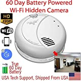 SecureGuard SMK-60DWIFI - 60 Day Battery Powered WiFi Smoke Detector Spy Camera