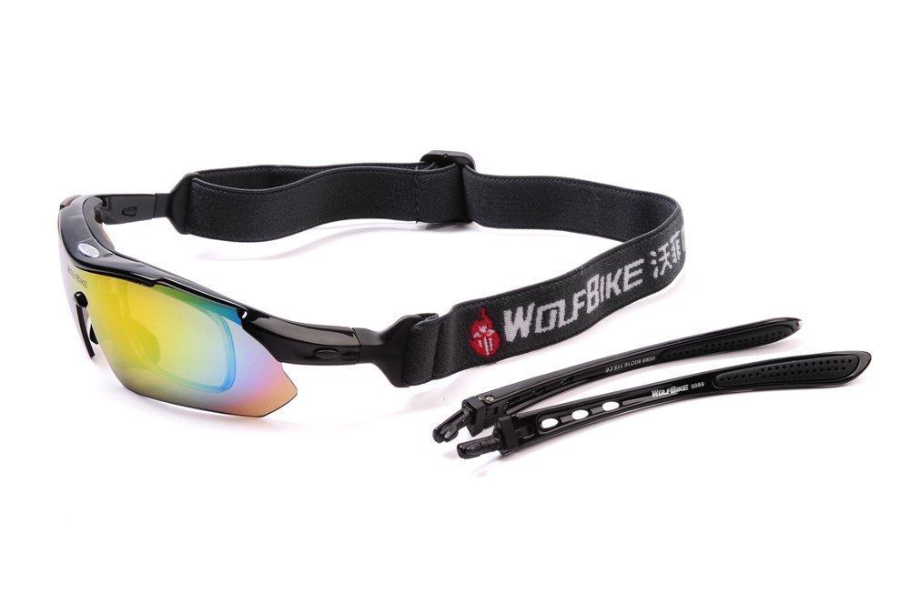 e62e34cb735c Amazon.com: WOLFBIKE POLARIZE Sports Cycling Sunglasses for Men Women  Cycling Riding Running Glasses (Black): Sports & Outdoors